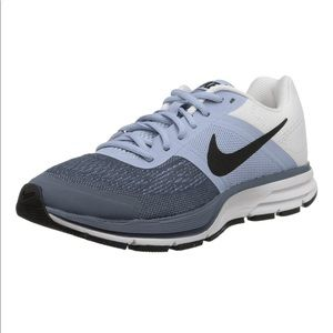 Nike pegasus blue gray white lace up athletic shoe